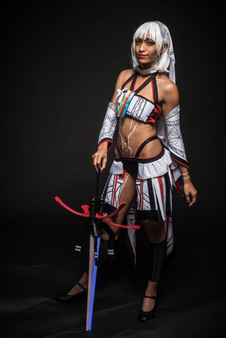 CRYSTAL CITY,VA - July 1, 2017: Ariel Fortiz, of Bowie, MD, whose cosplay handle is Leira Cosplays, as Attila/Altera from Fate Extella. BlerDCon is the first nerd convention organized for people of color. (André Chung for The Undefeated)